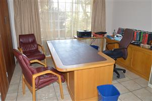 Oak Desk with Accessories