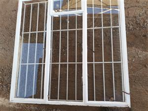 Steel windows with burglars