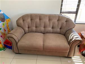 Suede Leather Couches-excellent condition