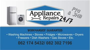 All appliance repairs 24/7