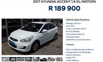 2017 Hyundai Accent sedan 1.6 Motion