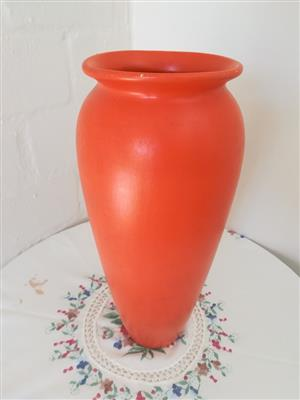 Red flower vase for sale