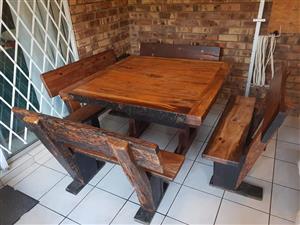 8 seater sleeper wood table