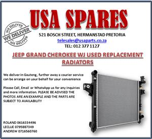 JEEP GRAND CHEROKEE WJ USED REPLACEMENT RADIATORS