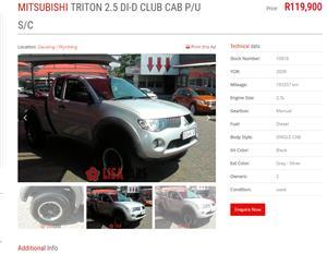 2008 Mitsubishi Triton 2.5DI D ClubCab