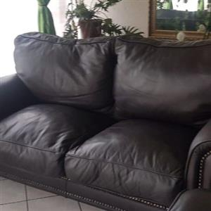 2 Full leather couches.
