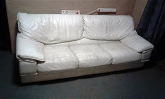 white leather 3 piece lounge suite in pta north