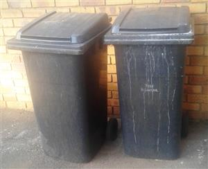 Wheelie dustbins used for sale