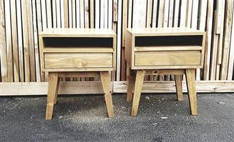 beds, pedestals, bedside tables