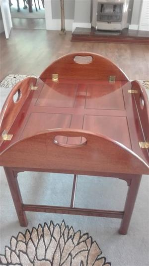 Square tray table for sale
