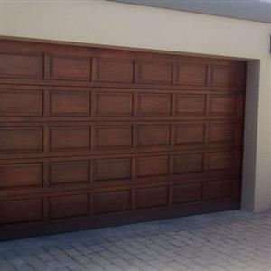 Merati Wood Sectional Double Garage doors for sale