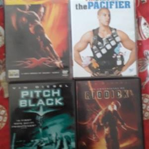 Vin Diesel movie collection DVDs