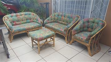Lovely 4 piece cane patio set.
