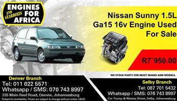 Nissan Sunny 1.5L Ga15 16v Engine Used For Sale