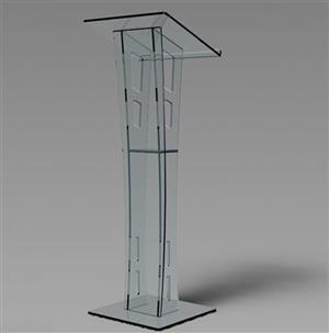 Clear Assembled Floor Hotel Acrylic Podium