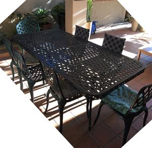 Aluminium patio table and chairs