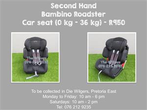 Second Hand Bambino Roadster Car seat (0 kg - 36 kg)