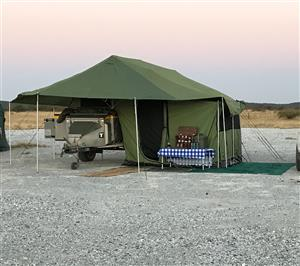 Desert Wolf Leo Trailer fully kitted wieth Oak Kitchen and 6 man tent