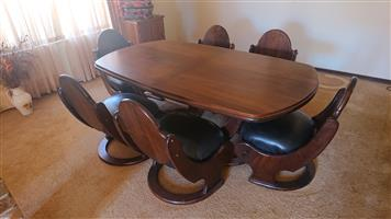 Imbuia Wood Dining Room Set
