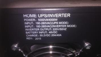 UPS/INVERTER 5000VA 4000 AMP