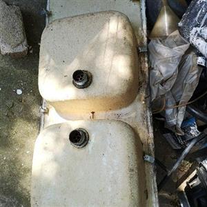 Fiberglass dual kitchen sink