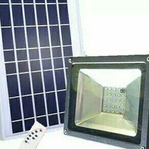 Solar powered LED flood lights