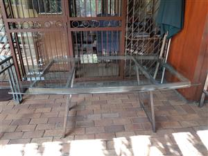 Wrought Iron Table and Side Board