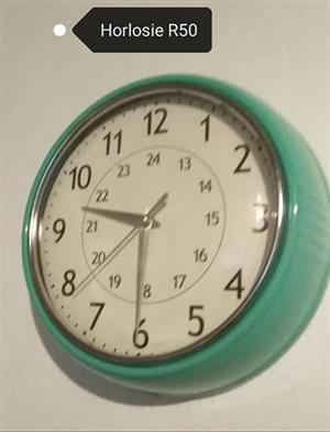Green wall clock for sale