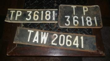 car plates for man cage