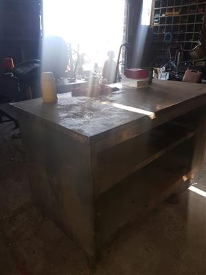 Stainless Steel Table with drawers for sale