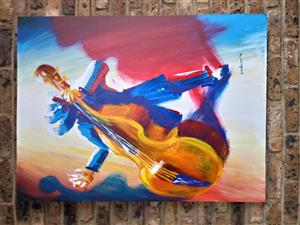 Jazz musican painting