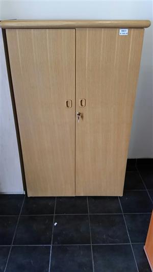 Oak veneer filing cabinet
