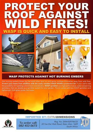 Wasp home wildfire protection kits