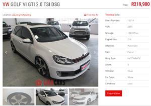 2011 VW Golf hatch GOLF VII GTi 2.0 TSI DSG