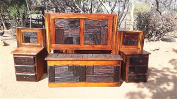Beautiful sleeper wood bedroom set