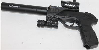 S035572A Gamo blowback gas gun with gas and bullets in box #Rosettenvillepawnshop