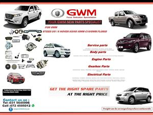 SPECIALISING IN GWM AUTOMOTIVE NEW PARTS.Body Parts,Electrical Parts,Brake Parts, Suspension Parts