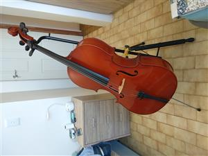 Full size Flame Lily Laminate Cello