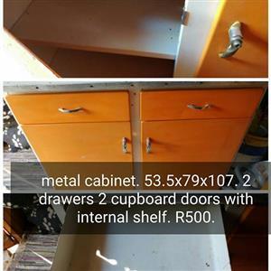 Orange metal cabinet for sale