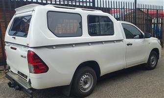 BRAND NEW TOYOTA HILUX GD6 SINGLE CAB LWB HI-LINER CANOPY WITH R/RACKS FOR SALES!