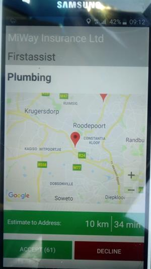 Plumbing &electrical  App for sale