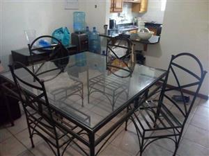 Cast Iron table and chairs for sale