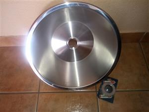 Round stainless/s sink 450mm & Waste plug