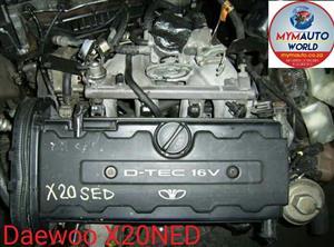 Complete Second hand used engines, DAEWOO NUBIRA 2.0 16V, DAEWOO X20SED