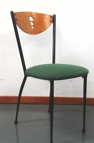 Green fabric canteen visitor chair