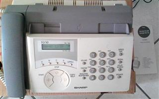 Sharp Fax machine with built-in Hand-set. Model: F0-50