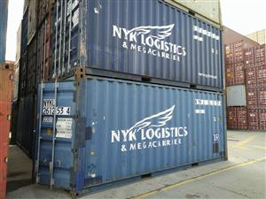20ft shipping containers in fairly used condition