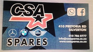 CSA SPARES MERCEDES,BMW AND MINI SPARES