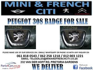 PEUGEOT 308 BADGE FOR SALE