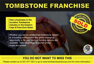 Franchise Opportinuty - Tombstone Warehouse